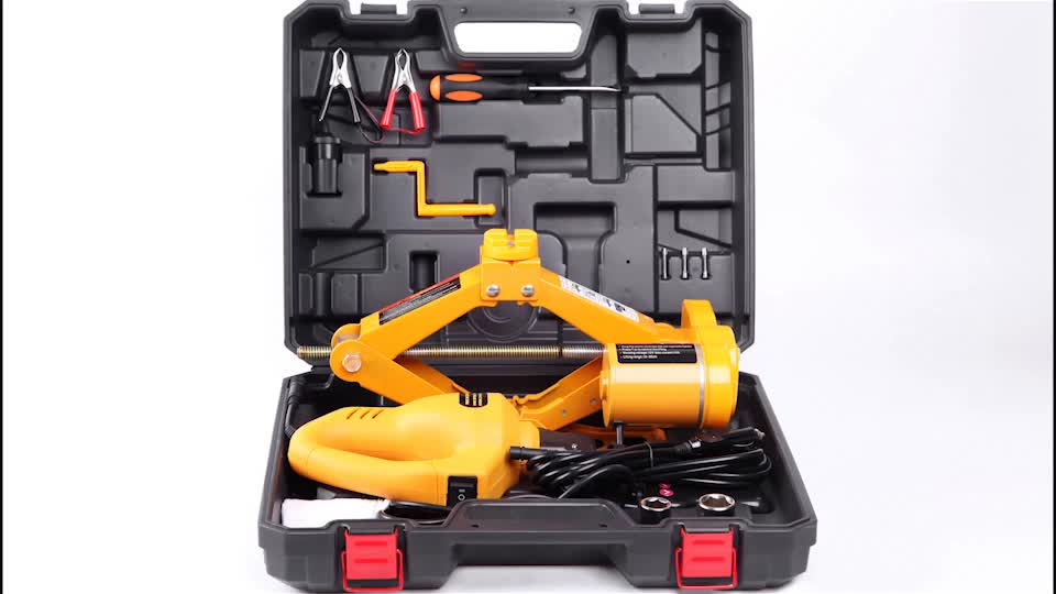 Hot Sale ISO CE Certifications Quick Repair Tools Set Portable Mini 3T 12V Electric Scissor Car Jack and Electric Impact Wrench
