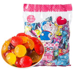 大润谷哆啦a梦网红果汁布丁水果糖