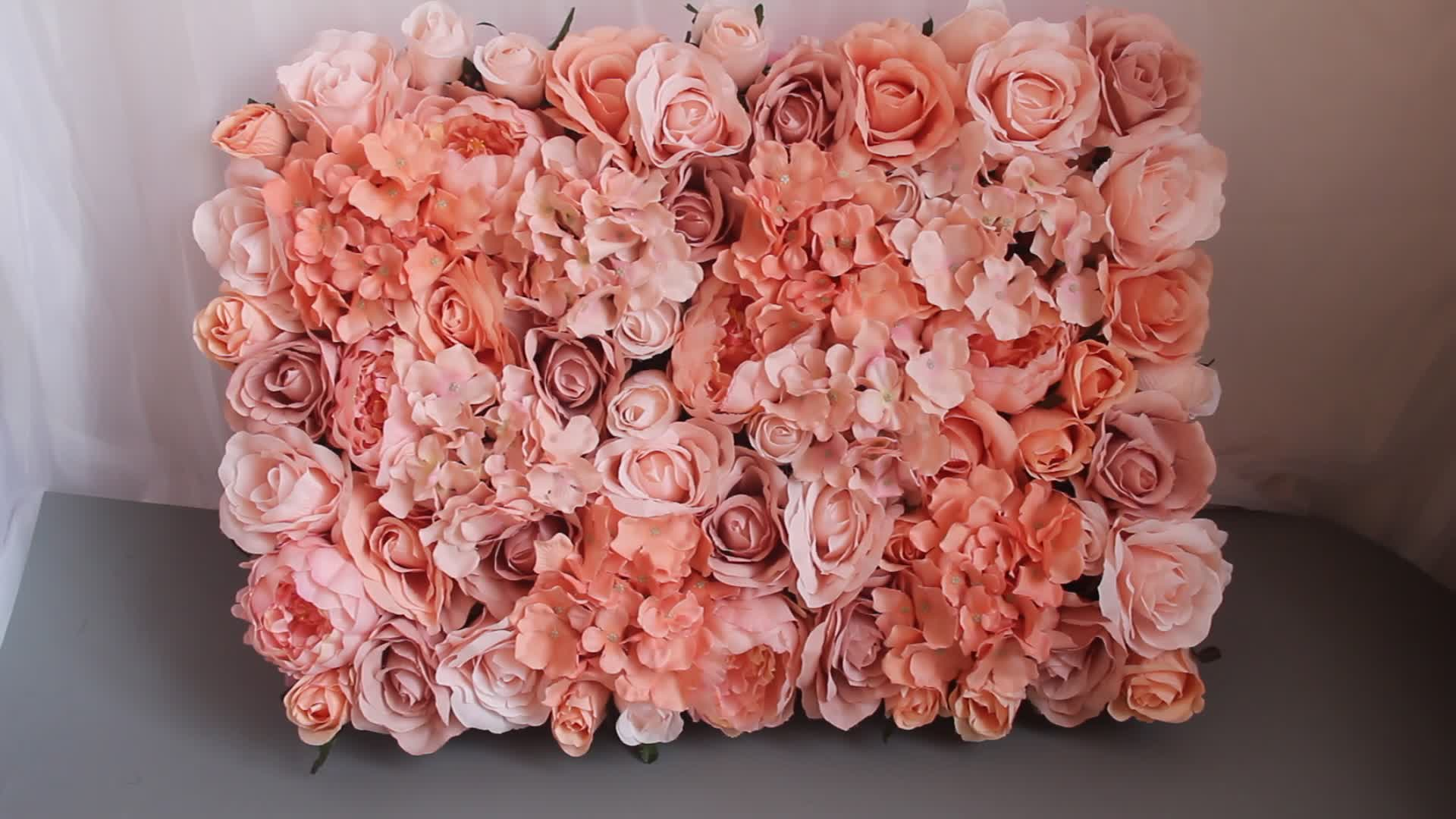 Latest Peach Pink Artificial Rose And Hydrangea Poeny Silk Flower
