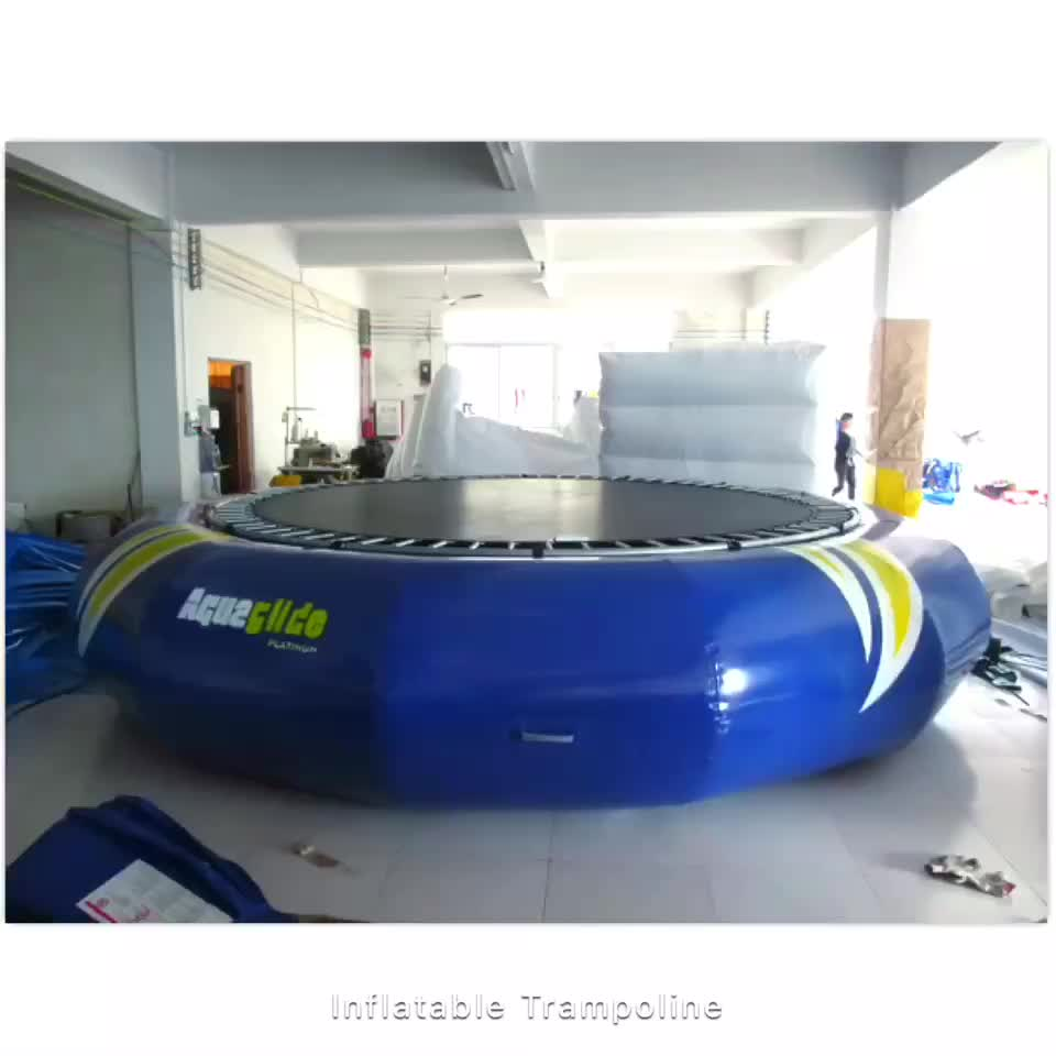 Stainless steel inflatable water trampoline inflatable trampoline