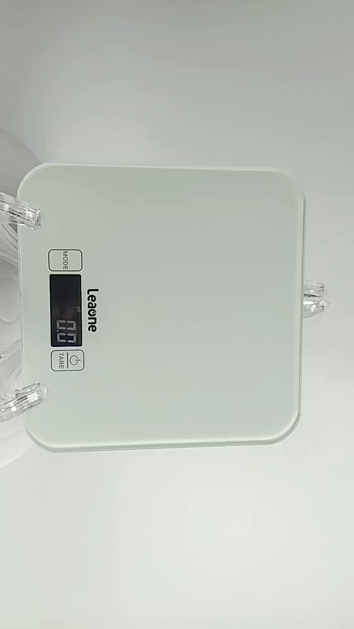 15KG LCD Household Cooking Digital Electronic Tempered Glass New Food Weighing Kitchen Novelties Scale With CE ROHS
