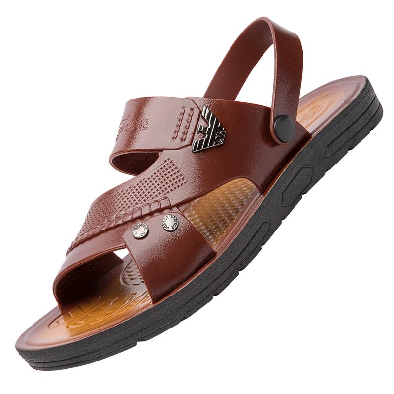 男士拖鞋2020新款夏季一字拖沙滩鞋软底休闲按摩防滑耐磨凉鞋男鞋