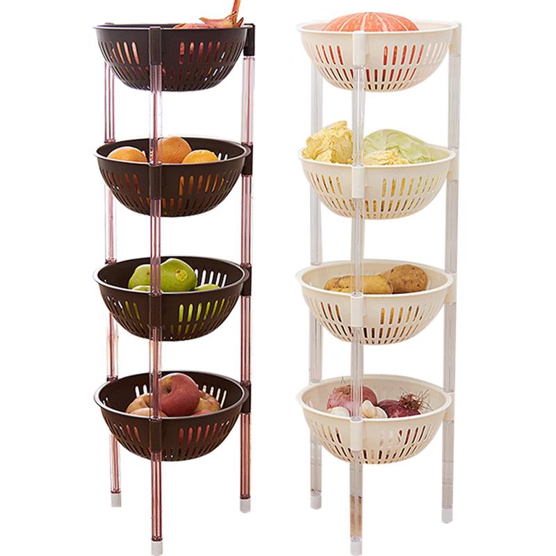 厨房置物架落地多层果蔬菜架子用品菜篮子储菜筐收纳神器家用大全