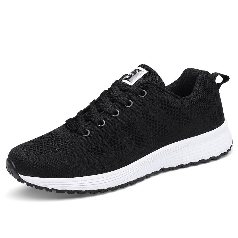 2021春季新款黑色韩版透气跑步鞋用后反馈