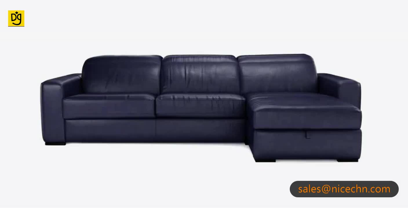 Blue Leather Corner Alibaba Multi Purpose Italian Sofa Bed