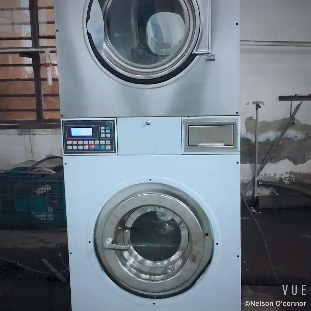 12kg Stackable Coin Operated Washing Machine And Lpg Gas