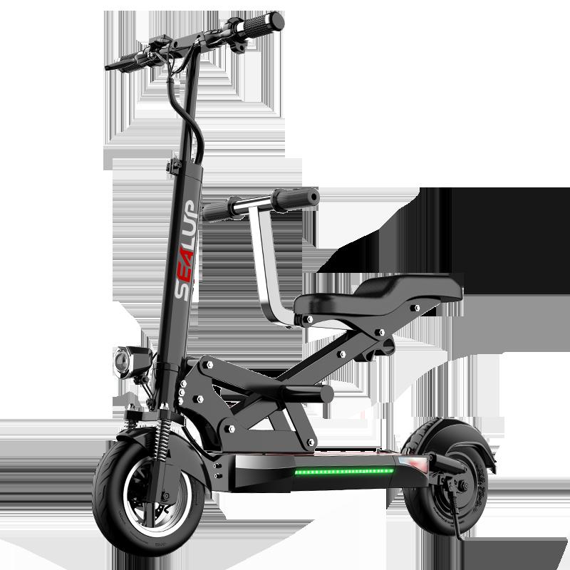希洛普 亲子车 电动滑板车成人迷你折叠电动车代步车小型电瓶车