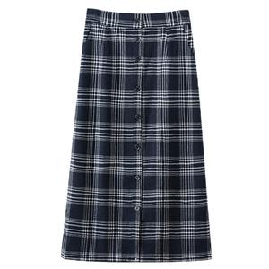 职业格子半身裙女2021流行裙子夏季胖mm中长款a字长裙包臀裙秋冬