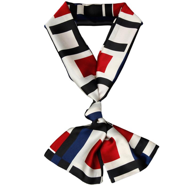 丝巾女春秋款小长条搭配衬衫夏季仿窄真丝围巾洋气时尚搭西装领带