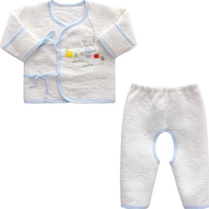 新生儿纯棉保暖内衣套装男女和尚服