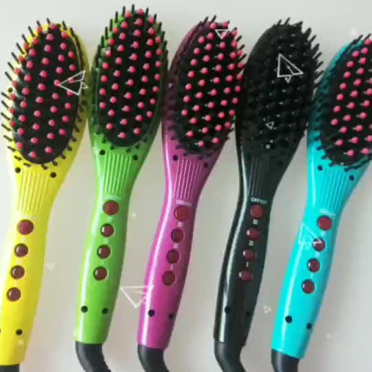 2018 best quality name brand hairdressing products hair straightener brush