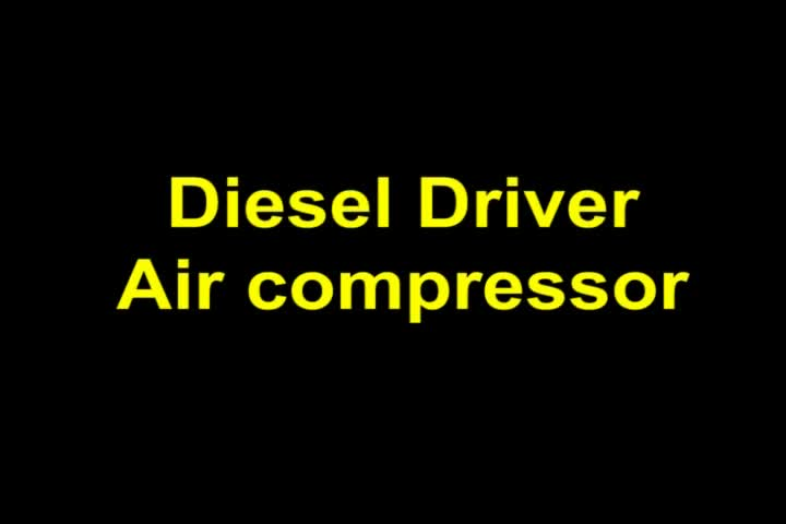 Diesel pistons air compressor with 100 gallon air compressor tank for industrial