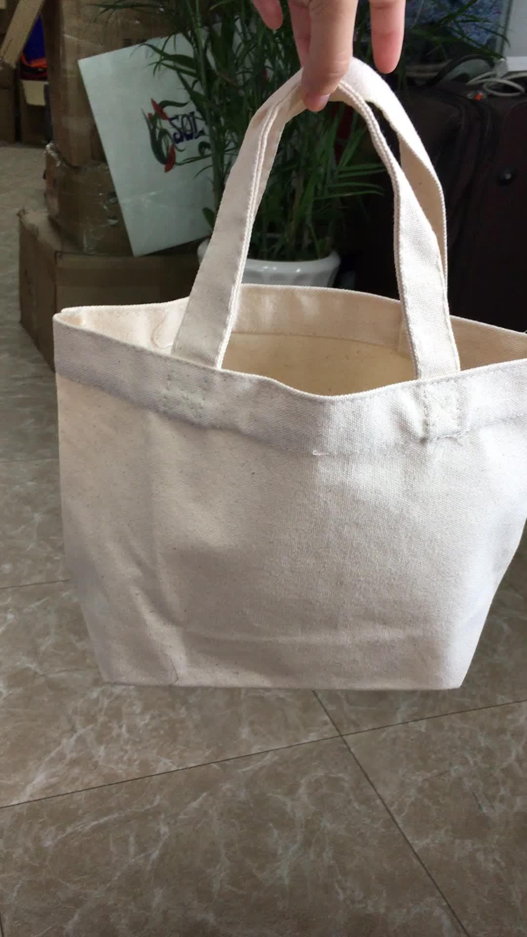 14 oz मानक आकार प्राकृतिक प्रचार कपास कैनवास बैग ले जाना