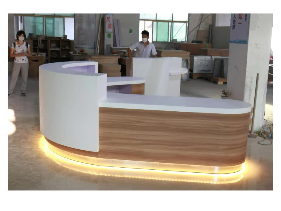 Hotel Front Desk Furniture Modern Led Office Counter Design