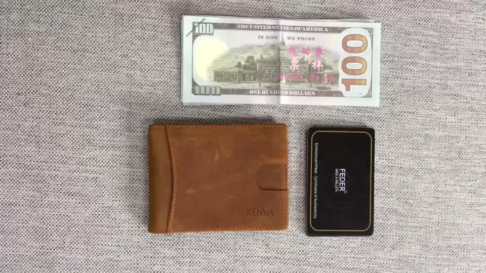 best selling rfid wallet money clip credit card holder wallet genuine leather wallet for men - Best Credit Card Holder