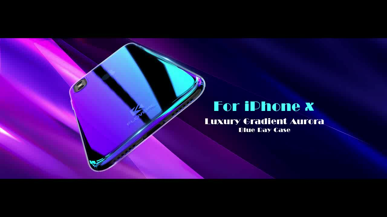 Free Shipping Back Cover for iPhone X/XR/XS Max 6/7/8 Plus FLOVEME Hard PC Blue Light Cell Phone Case