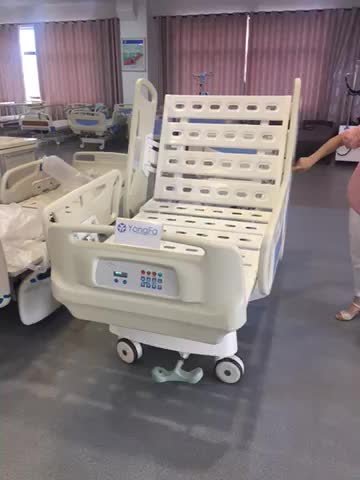 High Quality 5 Function Electric Hospital ICU With CPR  Bed