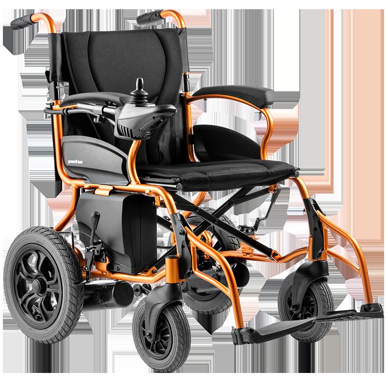 鱼跃电动轮椅锂电池多功能智能全自动折叠轻便老年便携老人代步车
