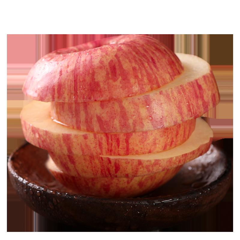 新苹果爆甜烟台红富士3斤果园现摘