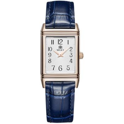 世爵瑞士女士手表ins风简约气质大气女表品牌正品皮带方形小表盘
