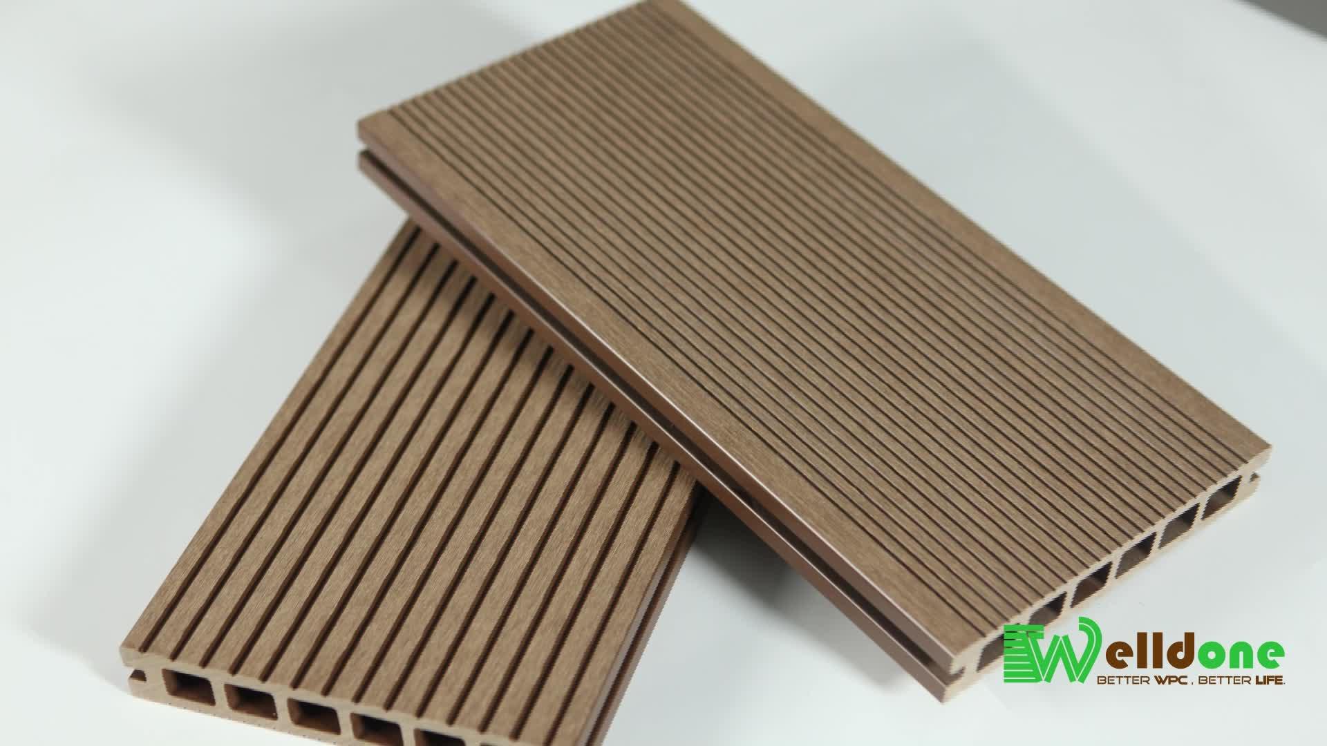 Wear-oposição anti-slip borracha pisos de madeira ao ar livre de wpc
