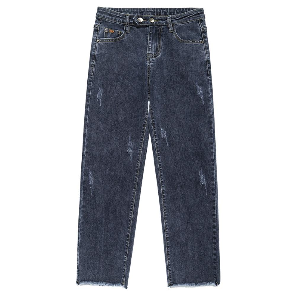 黑色直筒女士2021新款高腰牛仔裤用后反馈