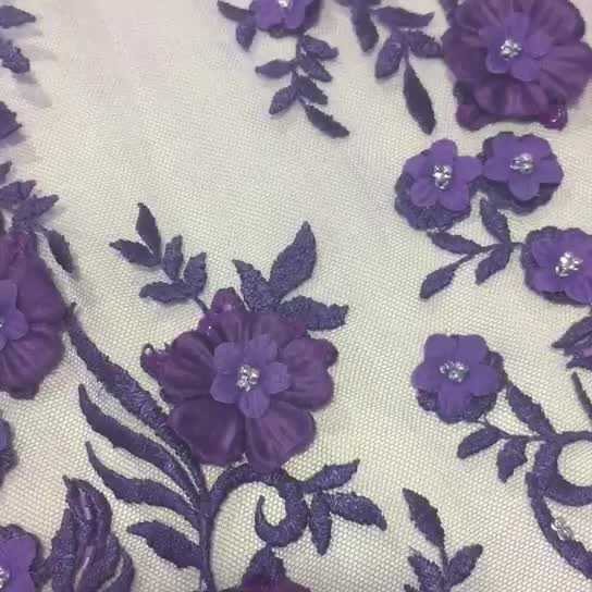 New arrival evening gowns italy embroidery lace fabric