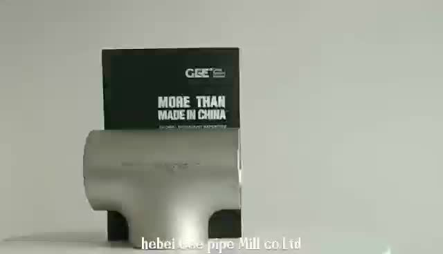 ansi b16.9    high  pressure  a234 wpb butt welded reducing tee suppliers