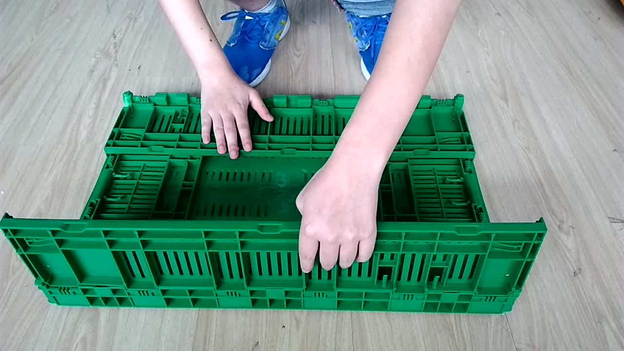 Tomato Potato Folding Stackable Collapsible container box Vegetable Fruit Crate