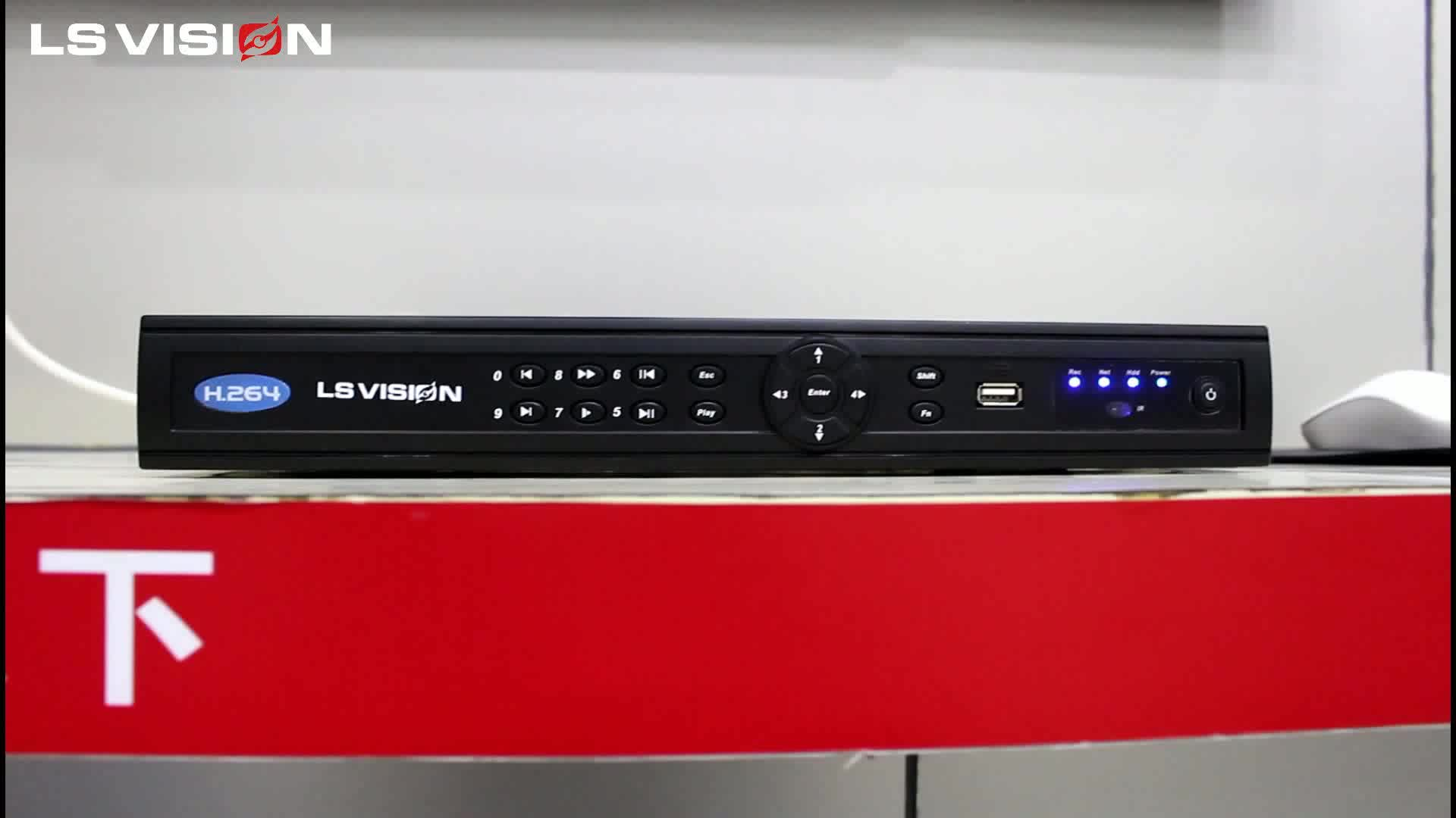LS VISION H.265 System ONVIF Plug and Play RS485 Face Detection Video Output P2P CMS Cloud 8CH 4K IP POE NVR