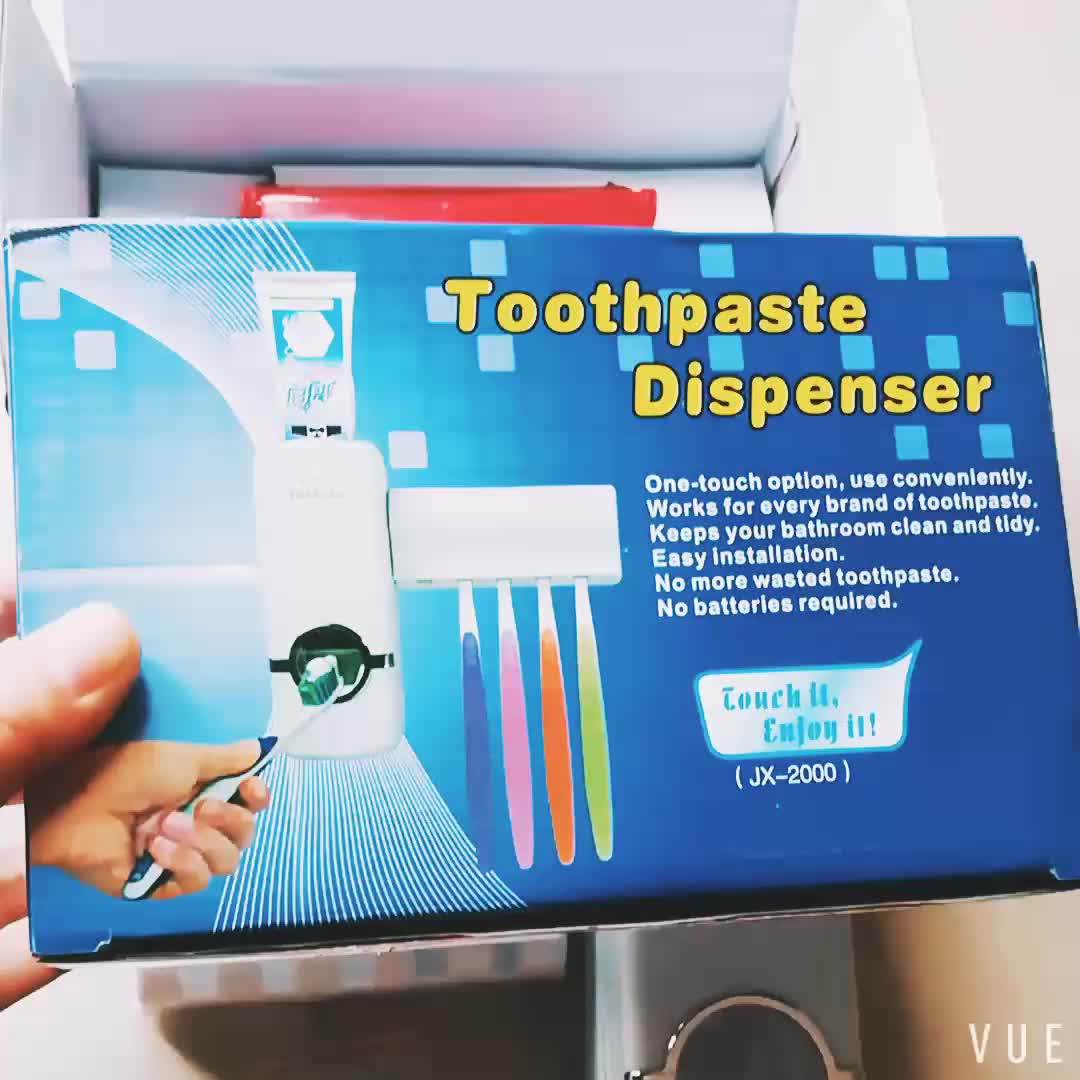 Hands free Plastic Toothbrush Tooth Paste Squeezer Holder