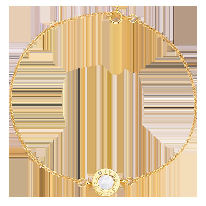 克拉恋人珠宝旗舰店雅典娜系列钻石手链女真钻镶钻一颗钻钻石首饰