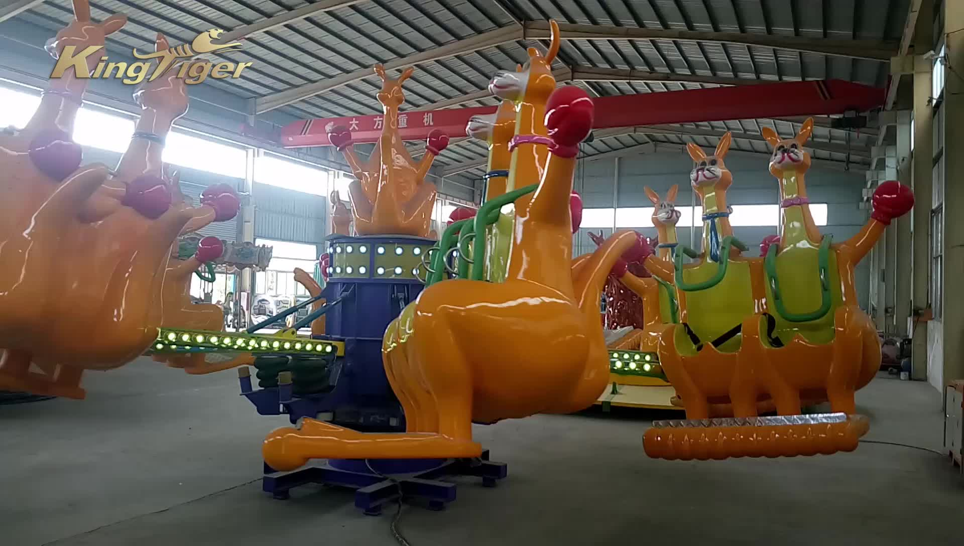 outdoor amusement ride playground jumping kangaroo manufacture