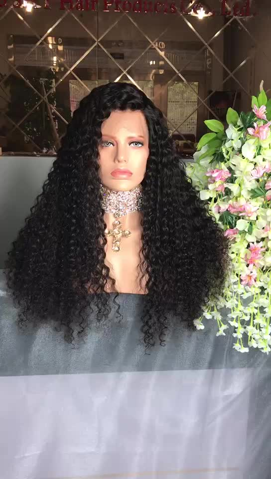 2017 Top Sale Virgin Human Hair Free Lace Wig Samples Kinky Curly Full Lace Wigs