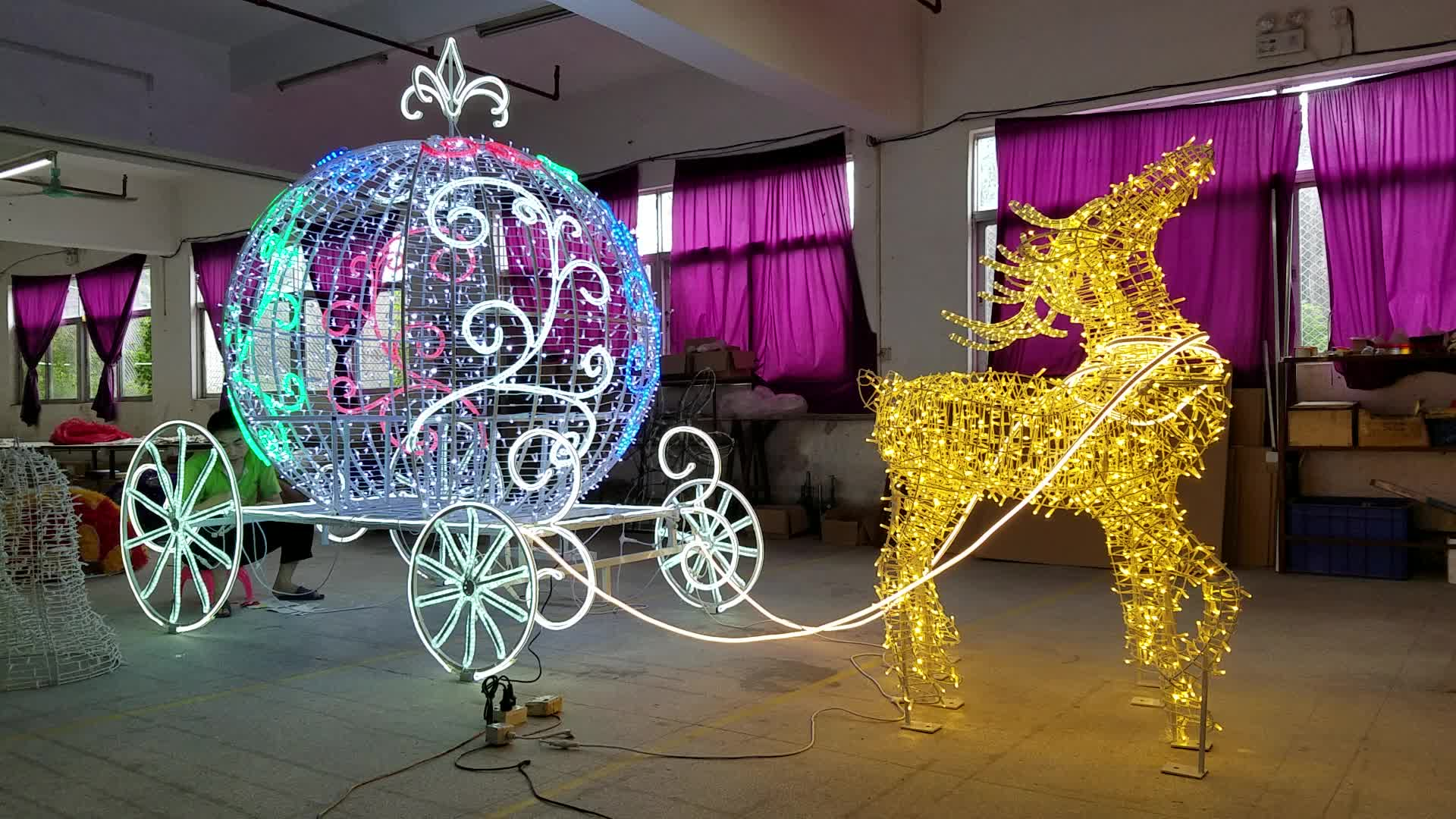 Outdoor commercial decoration led large christmas reindeer with outdoor commercial decoration led large christmas reindeer with light mozeypictures Gallery