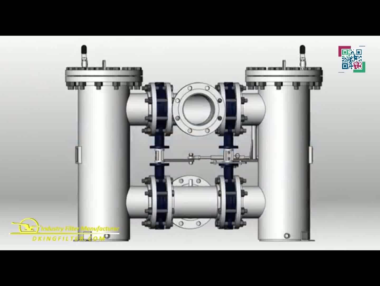 stainless steel/carbon steel dual line filter/duplex strainer