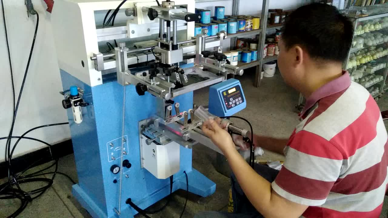 cup cylinder plastic surface screen printing machine LC-PA-300E