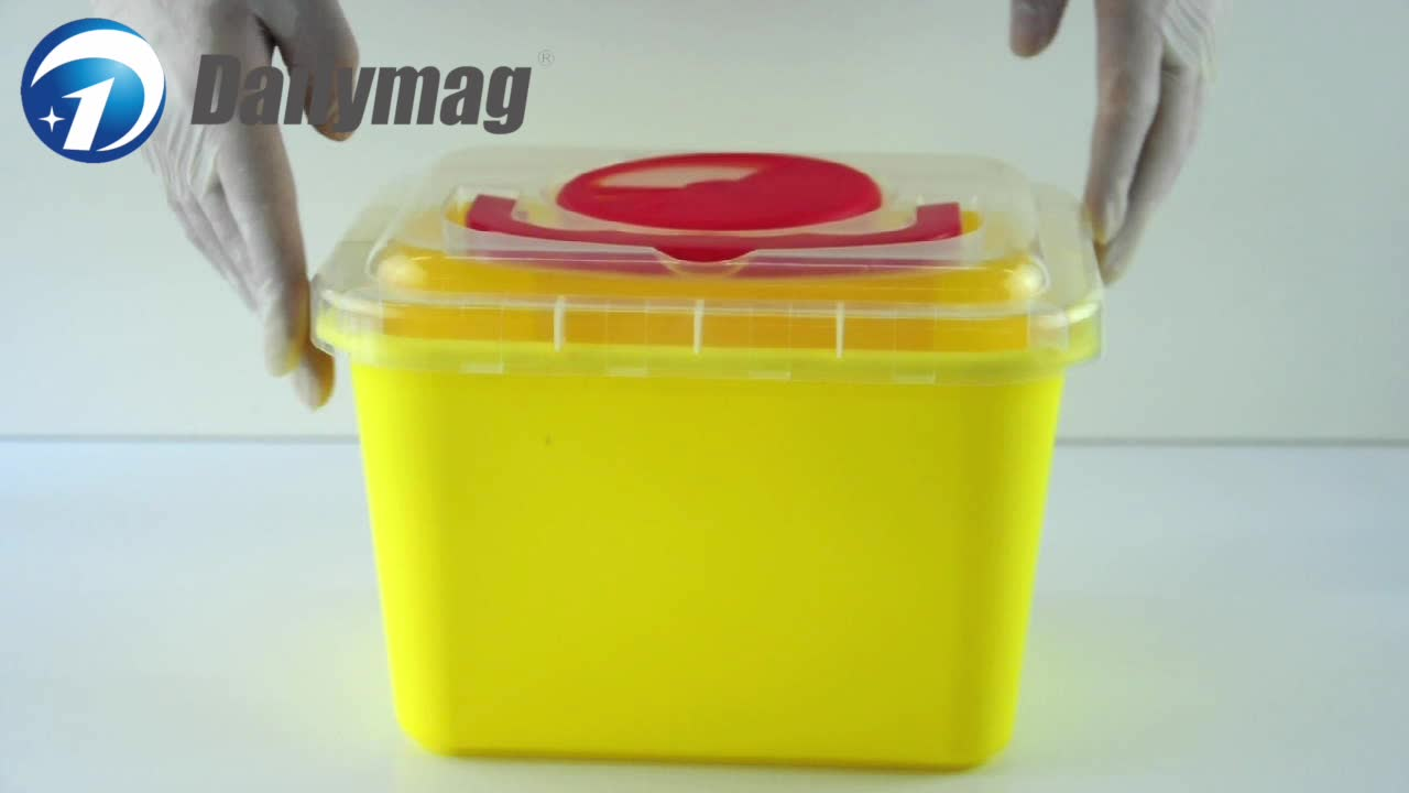 Medical Plastic Biohazard Sharp Container for Needles