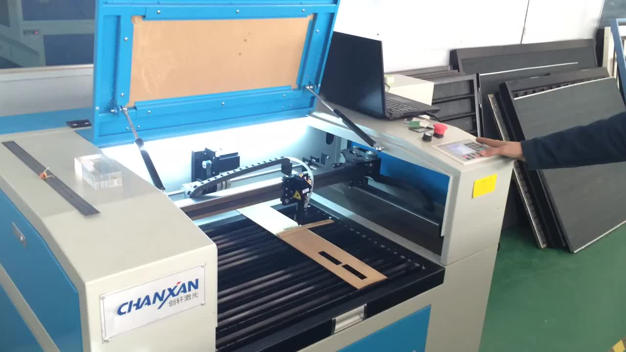 Chanxan Laser small rotary laser engraving cutting machine with water cooling system