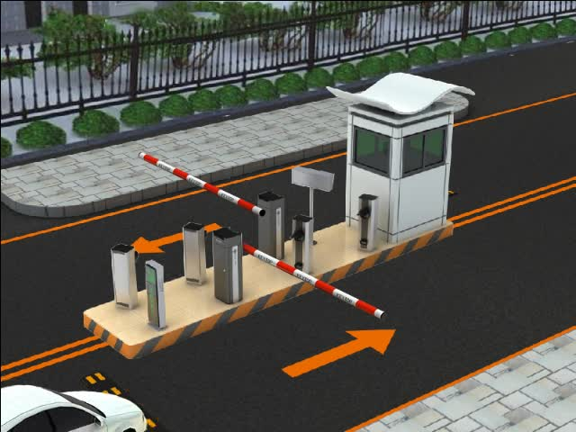 Smart Car Parking Vehicle Parking entry/exit control managment System with Barrier Gate