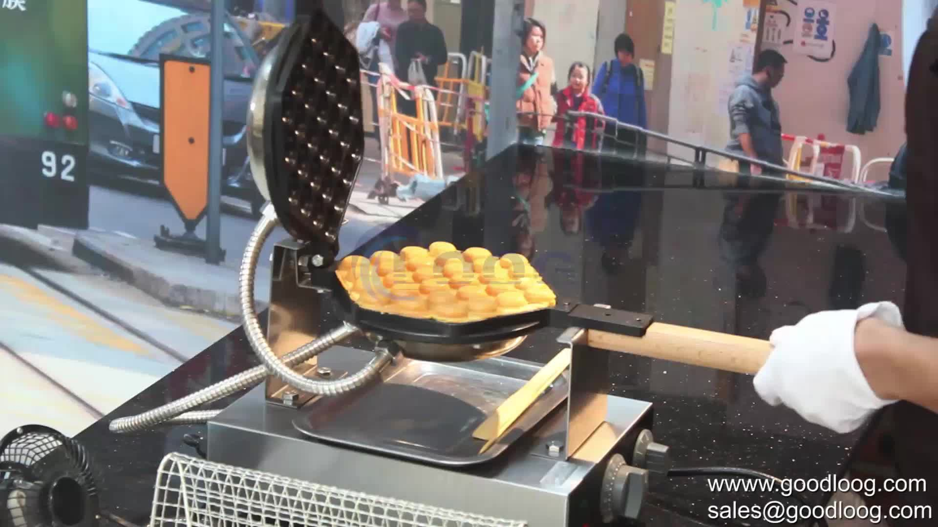 Commercial Snack Kitchen Multifunction Muffin Making Machine Household Electric Multi Belgium Waffle Maker- Mini Egg Maker