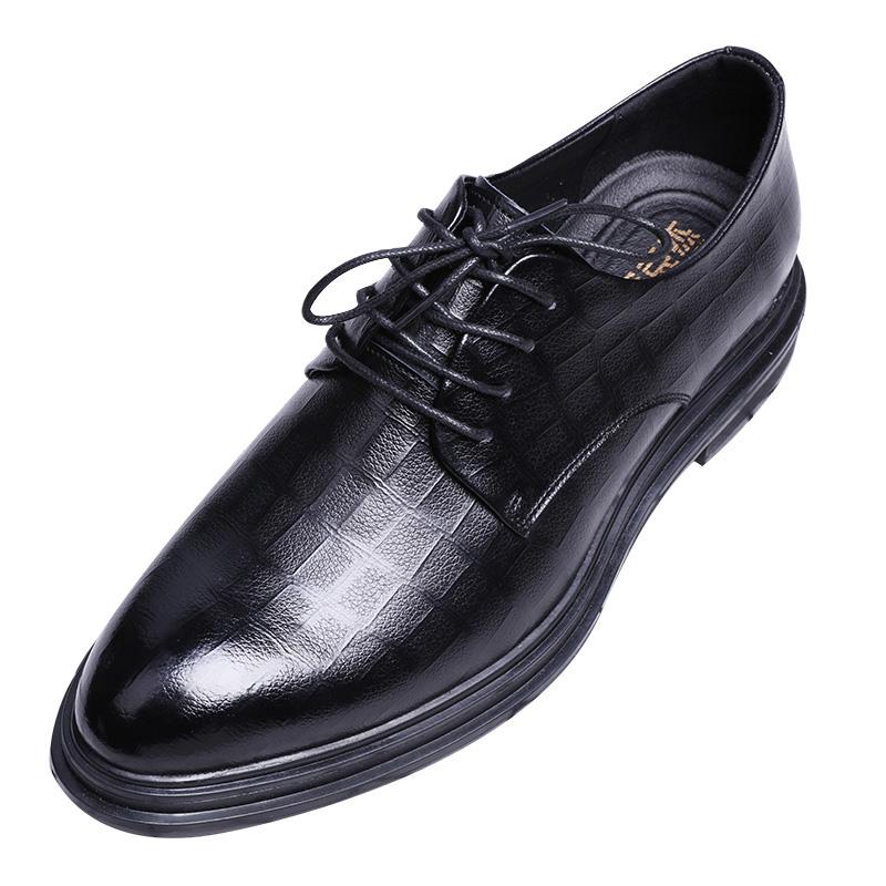 商务正装英伦新郎真皮内增高休闲鞋买后点评