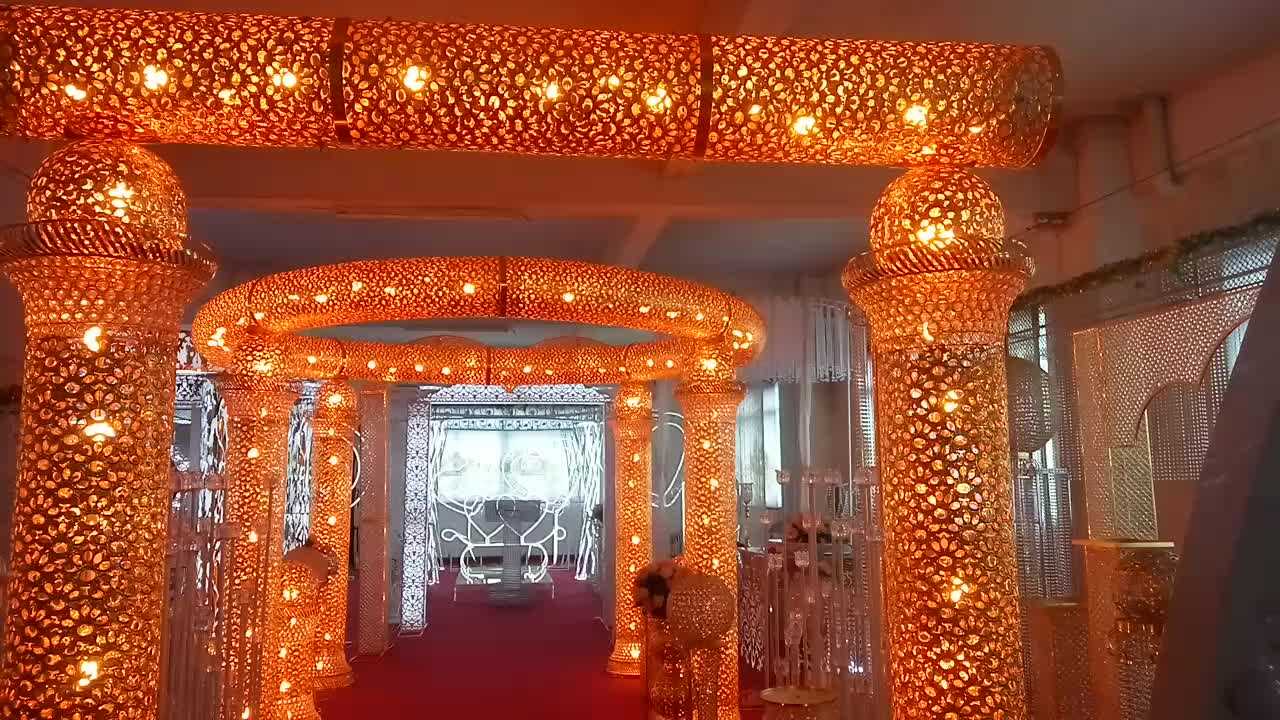 Royal Indian Design Lighting Mandap Pillars For Wedding Stage ... for Indian Wedding Light Decoration  53kxo