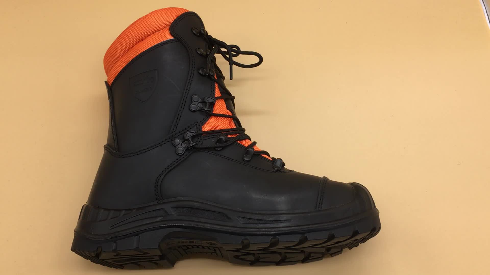 Chainsaw safety boots forestry safety boots CE EN 17249 chainsaw boots