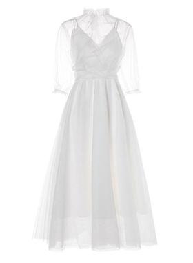 很仙的小众连衣裙吊带两件套气质2021新款夏仙女甜美度假沙滩长裙