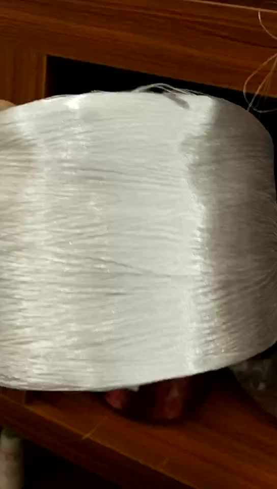 White Color Anti UV 900D PP Hollow Yarn for Webbing Rope