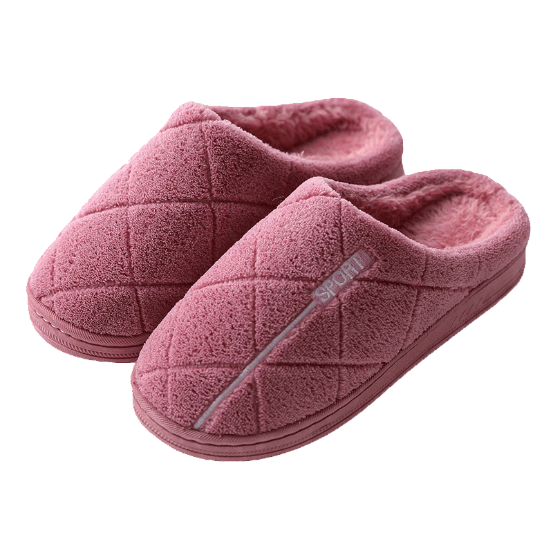 秋冬季棉拖鞋女室内毛绒保暖防滑厚底情侣可爱新款居家用棉拖鞋男