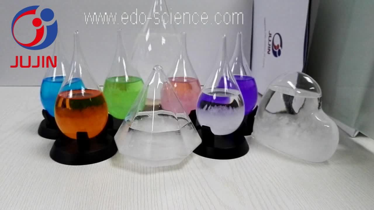 Fabrikwetterflasche Barometer Tränenglas Sturmglas Crafts Gift mit Holzsockel