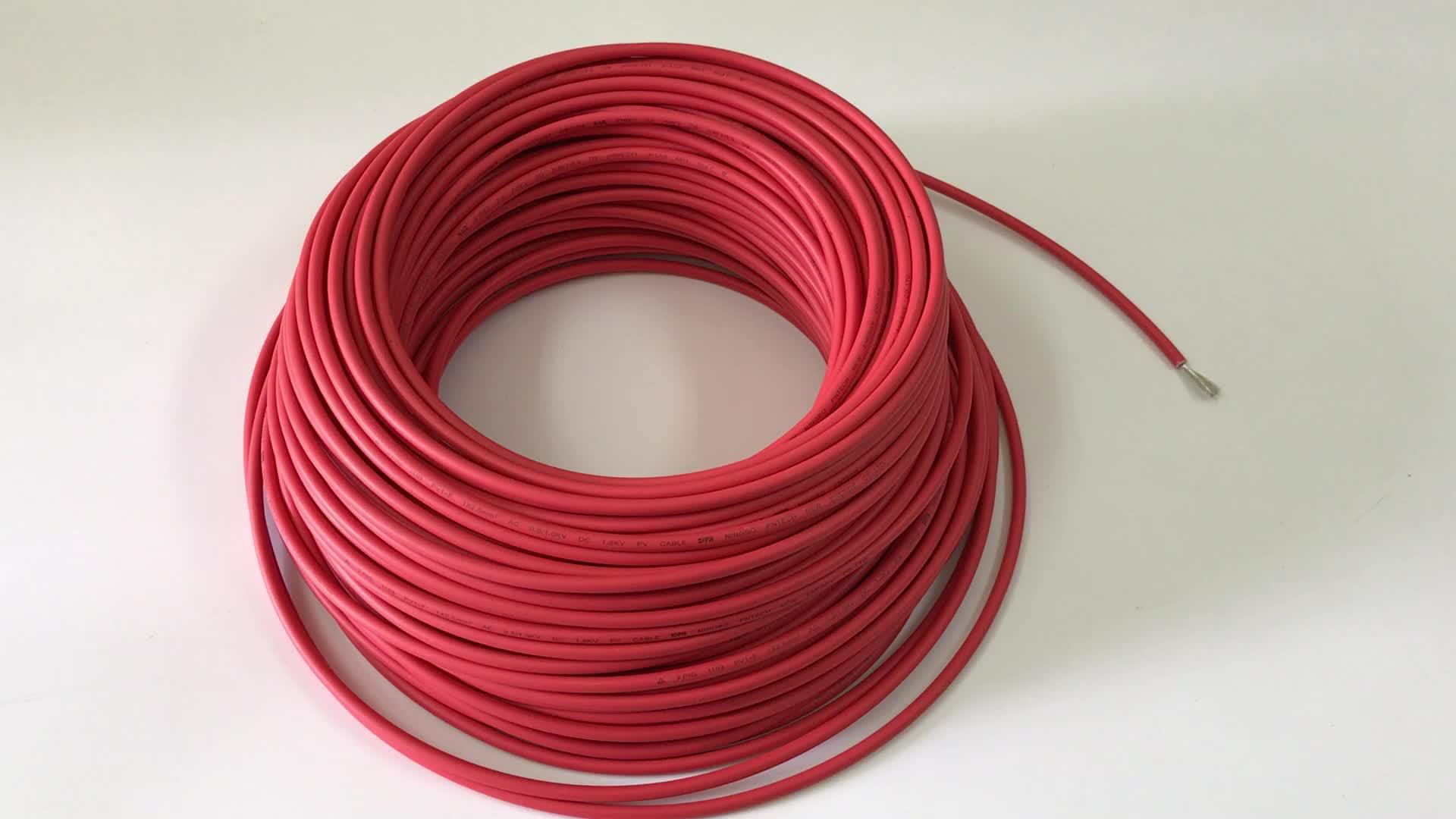 tuv ce uv resistant black red pv 1 f 1x6mm2 dc solar pv cable buy solar pv cable dc solar pv. Black Bedroom Furniture Sets. Home Design Ideas