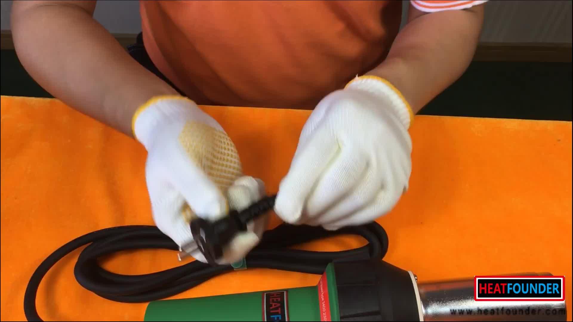 ช่างเชื่อมพลาสติกมืออากาศร้อนเครื่องมือเชื่อมประเภทปืนลมร้อนช่างเชื่อมพลาสติกอากาศร้อน